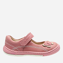 Softly Wow First Vintage Pink Leather girls-shoes