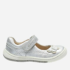 Softly Wow First Silver Leather girls-shoes