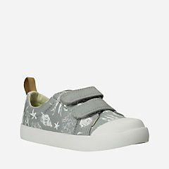 Halcy High First Grey Canvas boys-sneakers