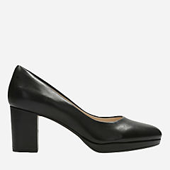 Kelda Hope Black Leather womens-heels