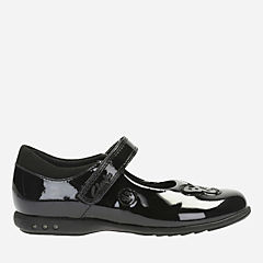 Trixi Rose Toddler Black Patent girls-shoes