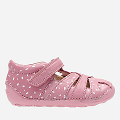 Little Mae Baby Vintage Pink Leather girls-pre-walker