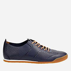 Siddal Sport Dark Blue Leather mens-ortholite