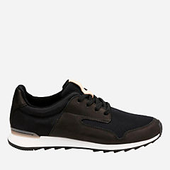 Floura Mix Black Leather womens-active