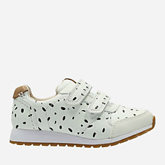 Zest Max Toddler White Combi Leather girls-sneakers