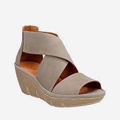 Clarene Glamor Sage Nubuck womens-sandals-wedge