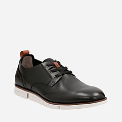 Trigen Wing Black Leather mens-oxfords-lace-ups