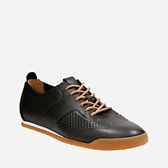 Siddal Sport Black Leather mens-ortholite