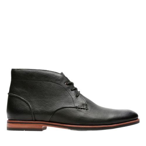 Broyd Mid Black Leather mens-dress-boots