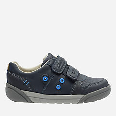 LilFolk Pop Toddler Navy Leather boys-shoes
