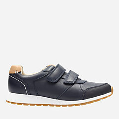 Zest Tex Youth Navy Leather boys-junior