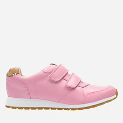 Zest Max Youth Pink Leather girls-sneakers
