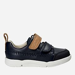 Tri Aspire First Navy Leather boys-sneakers