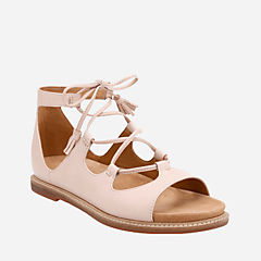 Corsio Dallas Nude Leather womens-flat-sandals