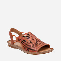 Sarla Cadence Tan Leather womens-flat-sandals