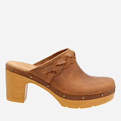 Ledella Meg Light Tan Leather womens-clogs