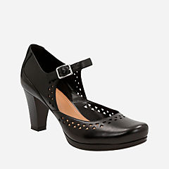 Chorus Chime Black Leather womens-heels