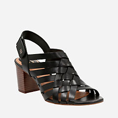 Ralene Luster Black Leather womens-sandals-heels