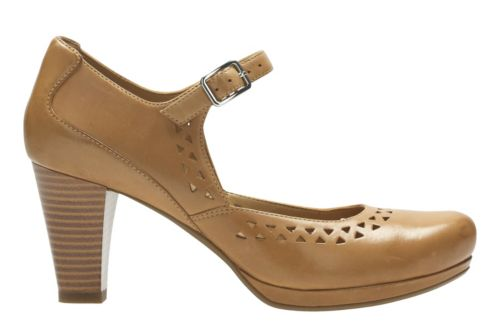 Chorus Chime Light Tan Lea womens-heels