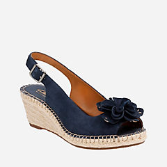Petrina Bianca Navy Suede womens-sandals-wedge