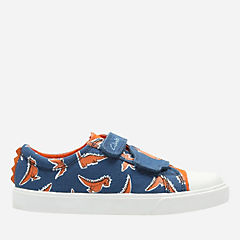 Tricer Roar Toddler Blue CanvasPrint boys-sneakers