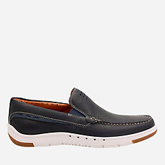 Unmaslow Easy Navy Tumbled Leather mens-unstructured