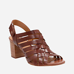 Ralene Luster Dark Tan Leather womens-heels