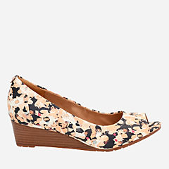 Vendra Daisy Mulit Print Leather womens-wedges