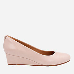 Vendra Bloom Dusty Pink Lizard Leather womens-wedges