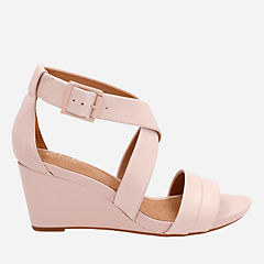 Acina Newport Dusty Pink Leather womens-sandals-wedge