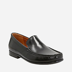 Claude Plain Black Leather mens-shoes