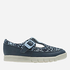 Crazy Tale First Navy Leather girls-shoes