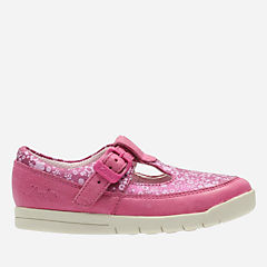 Crazy Tale First Hot Pink Leather girls-shoes