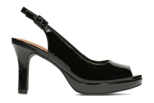 Mayra Blossom Black Patent Leather womens-peep-toe-heels