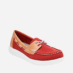 Jocolin Vista Red Perf Microfiber womens-flats