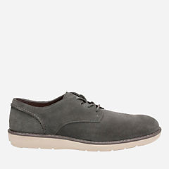 Fayeman Lace Dark Grey Suede mens-oxfords-lace-ups