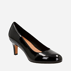 Heavenly Heart Black Patent Leather womens-heels