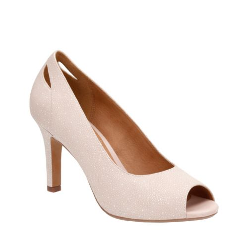 Heavenly Maze Nude Interest Nubuck womens-peep-toe-heels