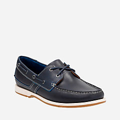 Fulmen Row Navy Leather mens-boat-shoes