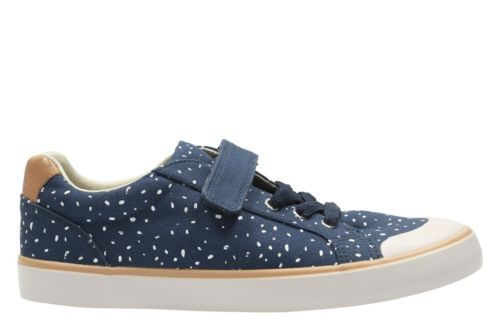 Comic Max Youth Navy Canvas girls-sneakers