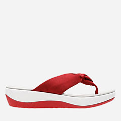 Arla Glison Red Heather Fabric womens-flip-flops-sandals