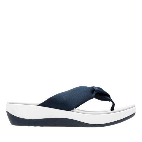 Arla Glison Blue Heather Fabric womens-flip-flops-sandals