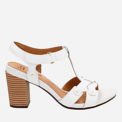 Banoy Valtina White Leather womens-wide-width