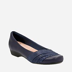 Blanche Cacee Navy Leather womens-collection