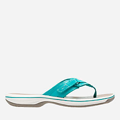 Breeze Sea Turquoise Synthetic womens-flip-flops-sandals