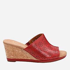 Helio Corridor Red Leather womens-medium-width