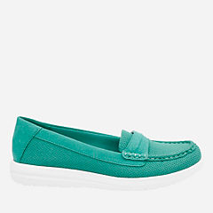 Jocolin Maye Turquoise Perf Textile womens-collection