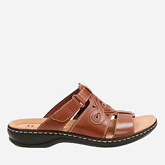 Leisa Higley Tan Leather womens-sandals-slides