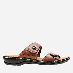 Leisa Lacole Tan Leather womens-sandals-slides