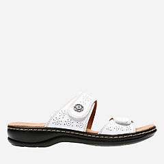 Leisa Lacole White Leather womens-sandals-slides